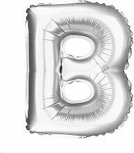 Bumen Ballon Zahl A-Z Silber Metallic 16 Zoll +