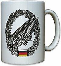 Bundeswehr Bund Bw Fallschirmjäger Adler grüne Teufel Barettabzeichen Abzeichen - Tasse Kaffee Becher #11421