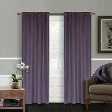 Bundfaltenhose Kunstseide 137,2x 223,5cm Nirgendwo Vision 2Tülle Vorhang Set, Lavendel viole
