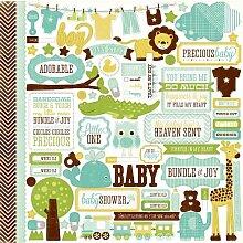Bundle Of Joy Boy Cardstock Stickers 12X12-Element