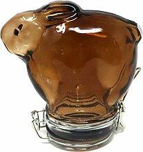 Bunny Frischhaltedose, 250 ml, buntes Glas Large