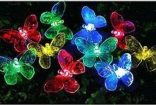Bunt 24 LED Solar Lichterkette Libelle
