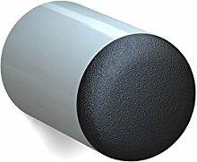 BUNT & PFIFFIG Wandtürpuffer aus Aluminium Türstopper Türpuffer Puffer zum Schutz der Wand Türklinkenpuffer Wandpuffer Wandstopper pulverbeschichtet RAL 7038 Achatgrau Grau