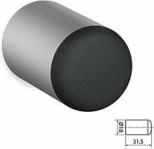 BUNT & PFIFFIG Wandtürpuffer aus Aluminium Türstopper Türpuffer Puffer zum Schutz der Wand Türklinkenpuffer Wandpuffer Wandstopper Silber eloxiert ähnlich RAL 9006 Weißaluminium