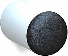 BUNT & PFIFFIG Wandtürpuffer aus Aluminium Türstopper Türpuffer Puffer zum Schutz der Wand Türklinkenpuffer Wandpuffer Wandstopper pulverbeschichtet RAL 9016 Verkehrsweiß Weiß