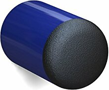 BUNT & PFIFFIG Wandtürpuffer aus Aluminium Türstopper Türpuffer Puffer zum Schutz der Wand Türklinkenpuffer Wandpuffer Wandstopper pulverbeschichtet RAL 5002 Ultramarinblau Blau