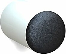 BUNT & PFIFFIG Wandtürpuffer aus Aluminium Türstopper Türpuffer Puffer zum Schutz der Wand Türklinkenpuffer Wandpuffer Wandstopper pulverbeschichtet RAL 9010 Reinweiß Weiß