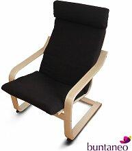 buntaneo Bezug passend für IKEA Poäng Sessel Coffee Bean (Braun) - weitere Farben verfügbar