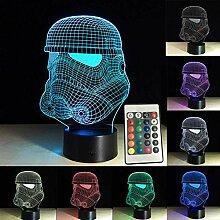 Bunte 3D Nachtlichter Star Wars Storm Trooper