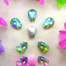 Bunte 7 Größen Glas Kristall Silber Klaue