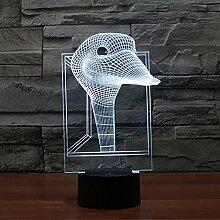 Bunte Atmosphären-Tischlampe, Usb-Aufladung, 3D