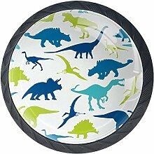 Bunte Dinosaurier-Silhouette 4 Stück