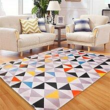 Bunte Dreieck Muster moderne einfache Schlafzimmer Teppich Wohnzimmer Sofa großer Teppich ( größe : 120*180cm )