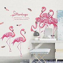 Bunte Flamingo Wandaufkleber Steuern Dekor Grils