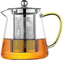 Bunte hitzebeständige Glas-Teekanne 550ml mit