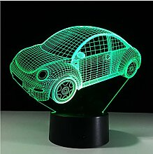 Bunte Käfer Auto 3D LED Nachtlicht Stimmungslampe