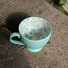 Bunte Keramik handbemalte Kaffeetasse Kreative