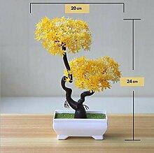 Bunte Künstliche Pflanzen Bonsai Kleine Baum Topf