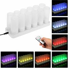Bunte LED-Kerzenlicht nachladbares Fern Simulation
