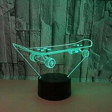 Bunte LED-Tischlampe USB der Nachtlicht-Roller