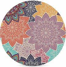 Bunte Mandala-Blumen-Muster Untersetzer für