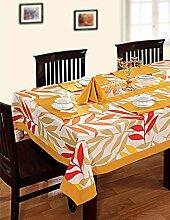 Bunte Multicolor Baumwolle Frühling Blumen Tischdecken für ESS Tische 152 x 152 Cm, gelber Rahmen
