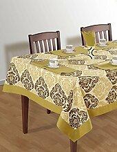 Bunte Multicolor Baumwolle Frühling Blumen Tischdecken Tische 152 x 152 Cm, dunkel Beige Border