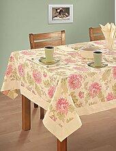 Bunte Multicolor Baumwolle Frühling Blumen Tischdecken Tische 152 x 152 Cm, Rich Cream-Grenze