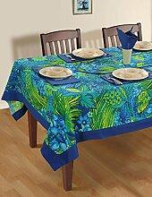 Bunte Multicolor Baumwolle Tischdecken Tische Frühling Blumen 152 X 228 CM, einschließlich Läufer & Servietten