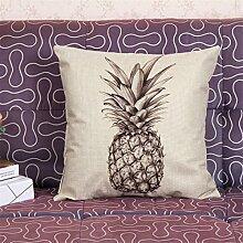 Bunte Obst Ananas Kissenbezüge Leinen Auto Sofa Büro Wohnzimmer Dekoration Kissen (Kissenbezüge Set Von 2 Stücke),D