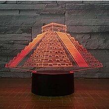 Bunte Pyramide 3D LED Nachtlicht Kreative 3d