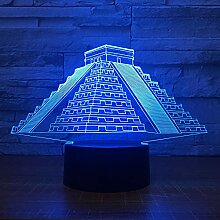Bunte Pyramide 3D LED Nachtlicht Kreative