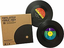 Bunte Retro Vinyl Record Disc Untersetzer, für