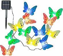 Bunte Schmetterling Solarbetriebe Lichterkette