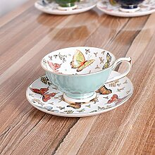 Bunte Schmetterlings-Aufkleber Kaffeetasse Und