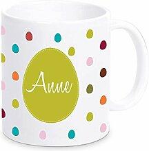 Bunte Tasse mit Ihrem Namen, Kaffeebecher,