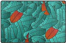 Bunte Tropische Blättermuster Teppich