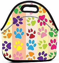 Bunten Hund Fußabdruck Lunchpaket-Box