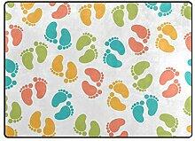 Bunter Abdruck-Teppich für