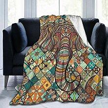 Bunter Boho-Mandala-Elefant, Boho-Stil, Vintage,