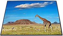 Bunter Design Türvorleger von banjado mit Motiv Giraffe