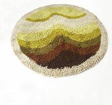 Bunter Vintage Pop Art Hochflor Rya Teppich von