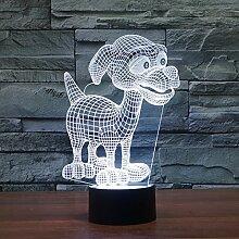 Buntes Nachtlicht, 3D Tischlampe, dekoratives