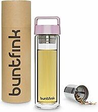 Buntfink 2goBottle Teeflasche aus Glas mit