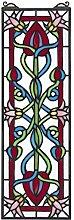 Buntglas-Panel - Rosa Dahlie Buntglas-Fenster Behang - Fensterbehandlungen