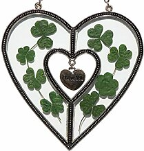Buntglas Sun Catcher of Shamrock I Love Sie Garten