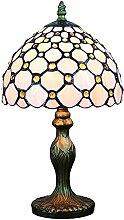 Buntglas weiße Perle Lampe Serie Tischlampe