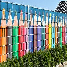 Buntstiftreihe - Zaun Sichtschutzstreifen für