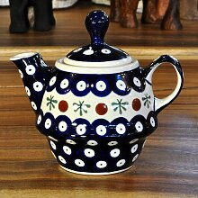Bunzlau Keramik Teekanne mit Deckel 0,21 L Dekor 41