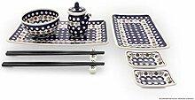 Bunzlauer Keramik Sushi-Set 8-teilig, Dekor 41